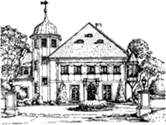 drawn image of The Halle Foundation house